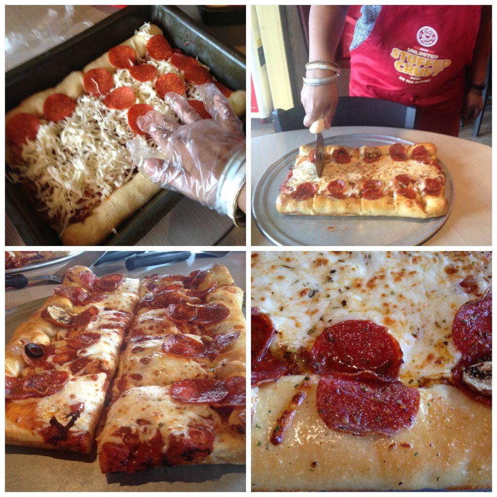Making some Ultimate Stuffed Crust Pizza