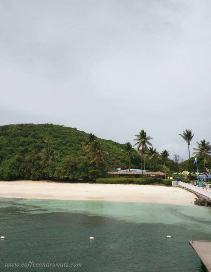 Palomino Island from Catamaran