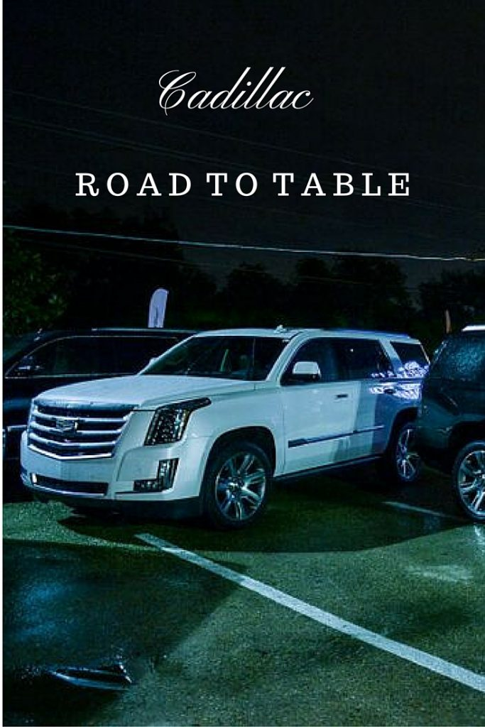 Cadillac Platinum Escalade in front of the Eberhard in Dallas, TX for the Cadillac Road to Table event in DFW