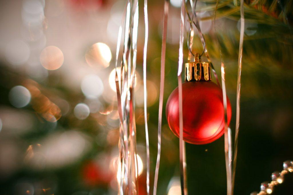 Decorating my first Christmas tree. CoffeeandSweats.com