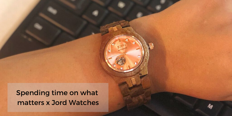 Spending Time On What Matters x JORD watches